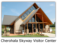 The Cherohala Skyway Visitor Center in Tellico Plains, TN